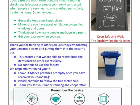 Client newsletter 22nd May 2021