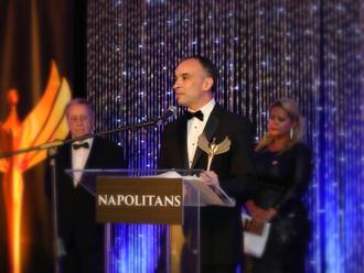 Maximiliano Aguiar, galardonado en los 'Napolitan Victory Awards' 2017