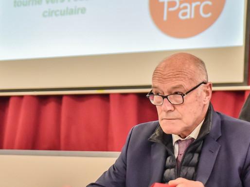 En campagne, Alain Rousset parle environnement à Damazan