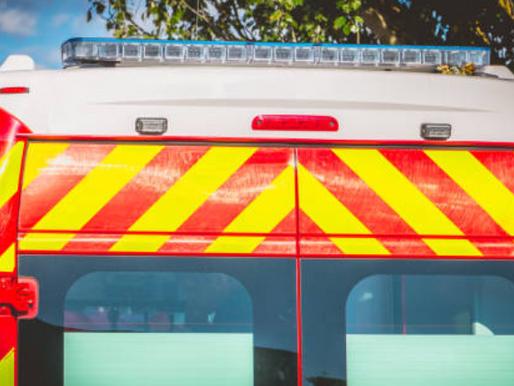 Un véhicule des pompiers percuté lors d'une intervention