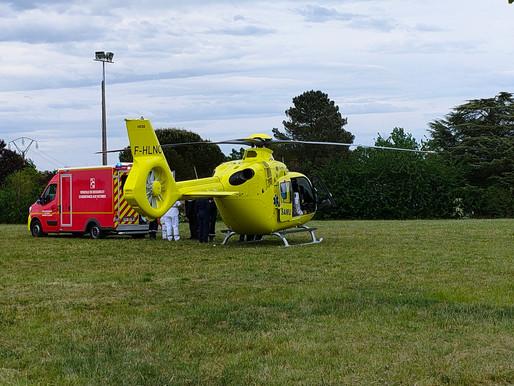Pujols : un pilote de quad héliporté en urgence à Bordeaux