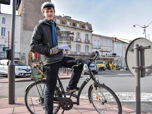 Adrien Chaud se bat pour       que le vélo ait le droit de cité