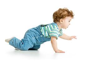 baby crawling, primitive reflex