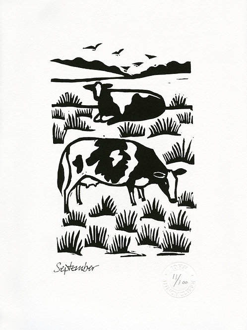 September Lithograph Limited Edition Print
