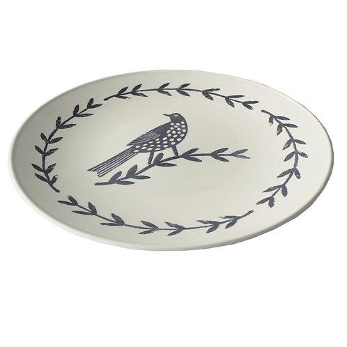 Songbird Grey Serving Plate