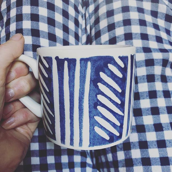 Blues and patterns, so easy to add in to