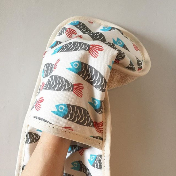 Lovely Paper Fish oven glove. Coming soo