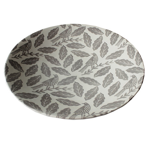 Songbird Grey Serving Bowl