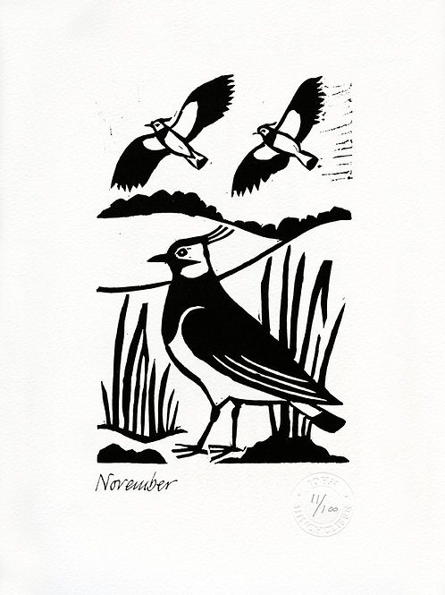 November Lithograph Limited Edition Print