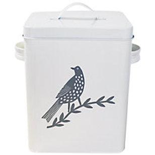 Songbird Grey Enamel Food Tin