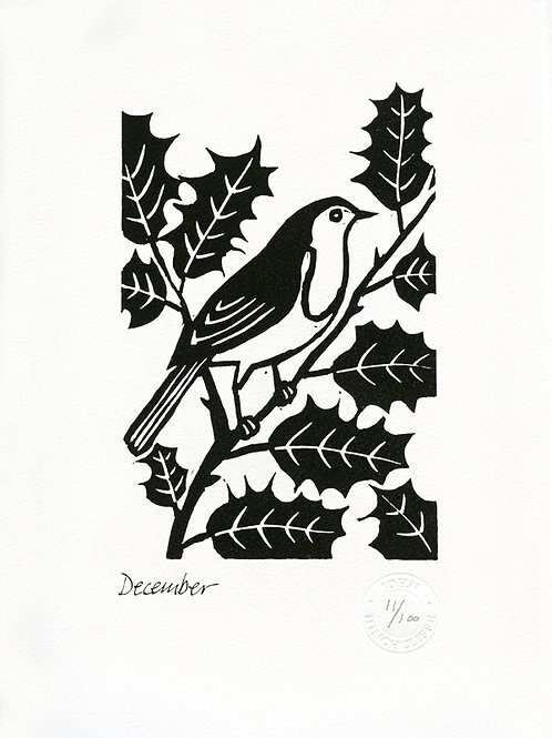 December Limited Edition Lithograph Print