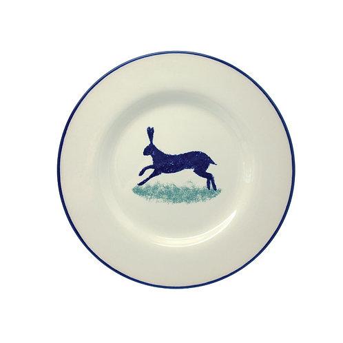 Dorset Delft Hare Side Plates - Set of 6