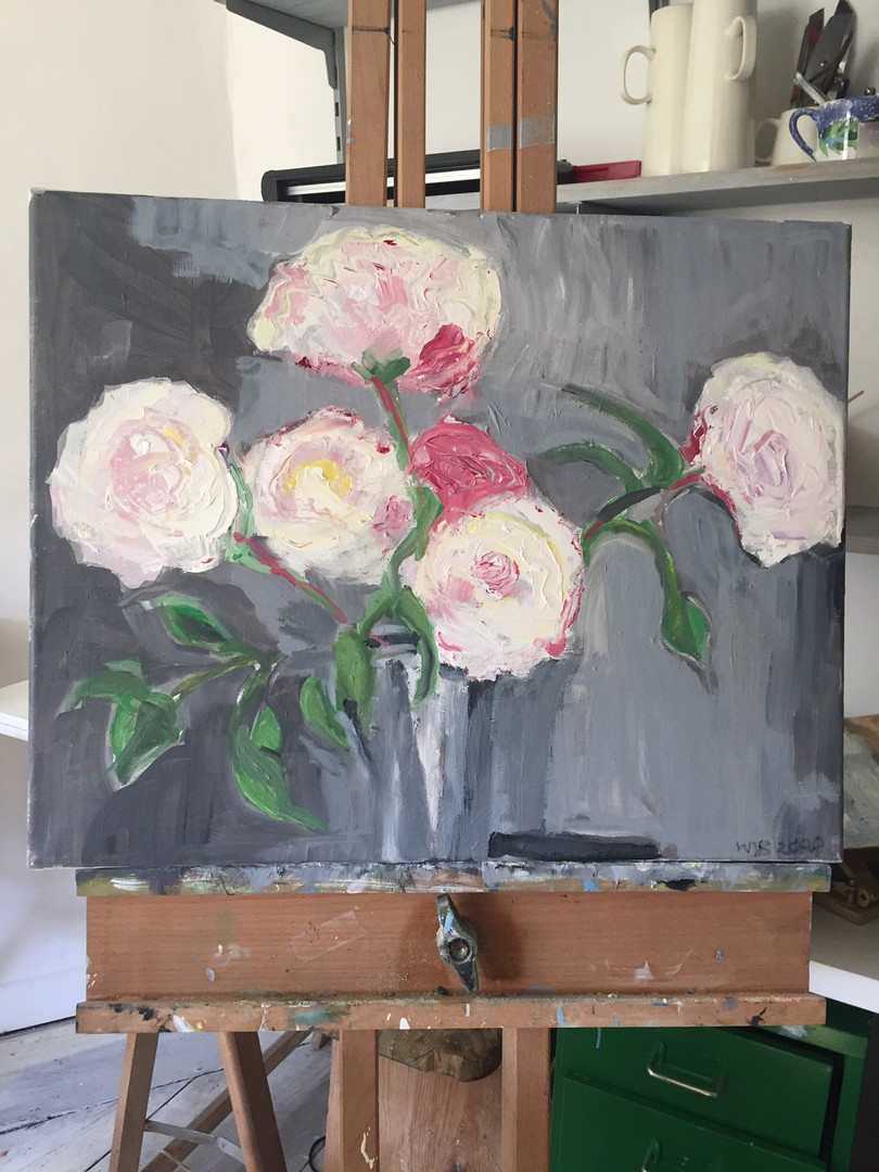Roses Oil Painting Wendy Barber