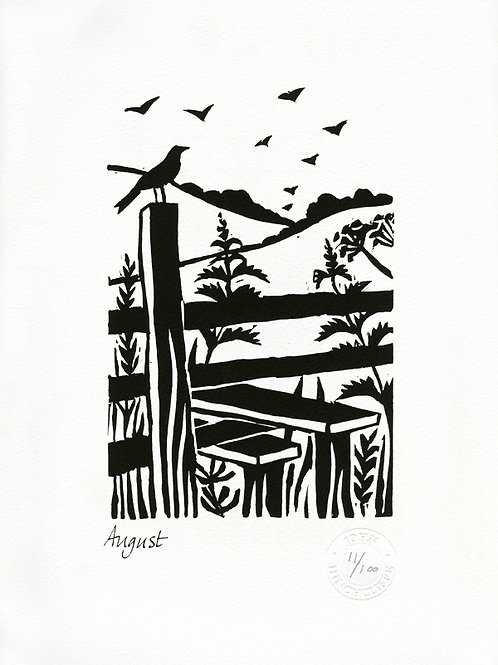 August Lithograph Limited Edition Print