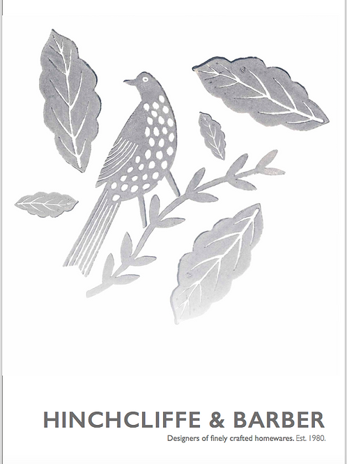 Grey Songbird design print