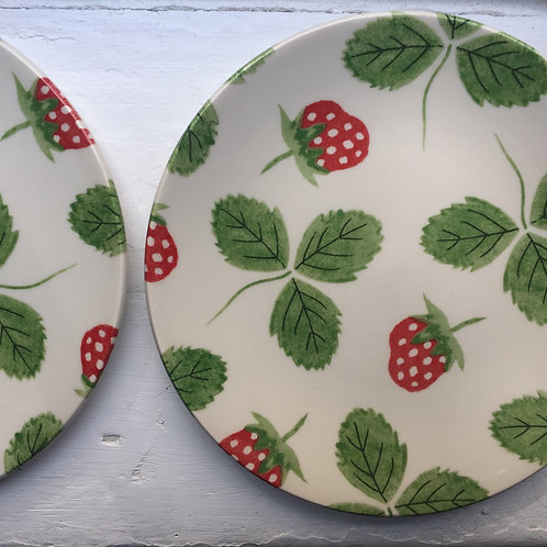 Strawberry Side Plates - Box of 6.
