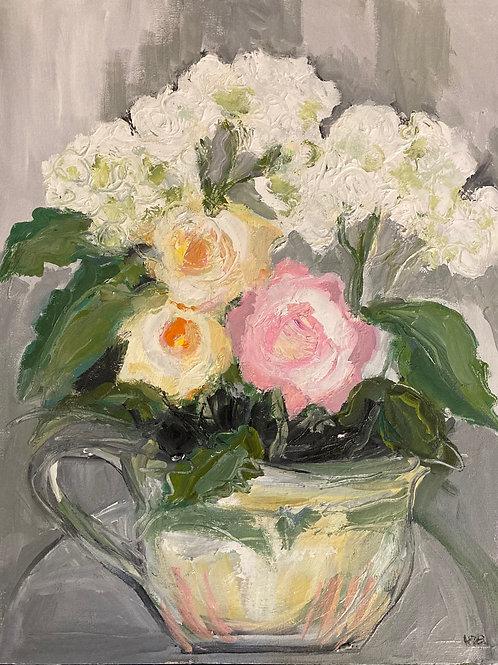 September Hydrangeas with Roses 4