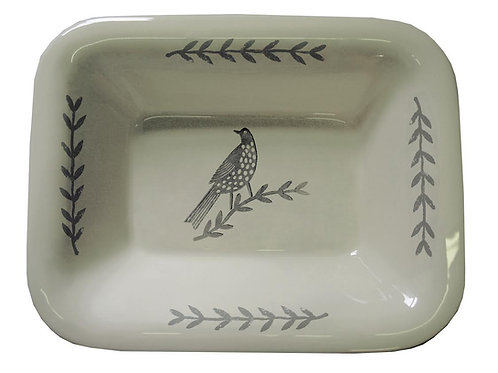 Songbird Grey Oven Dish