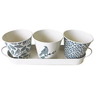 Songbird Enamel Herb Planters (set of 3)
