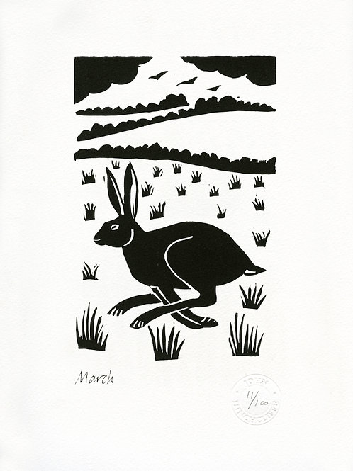 March Lithograph Limited Edition Print