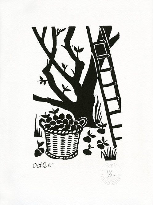 October Limited Edition Lithograph Print