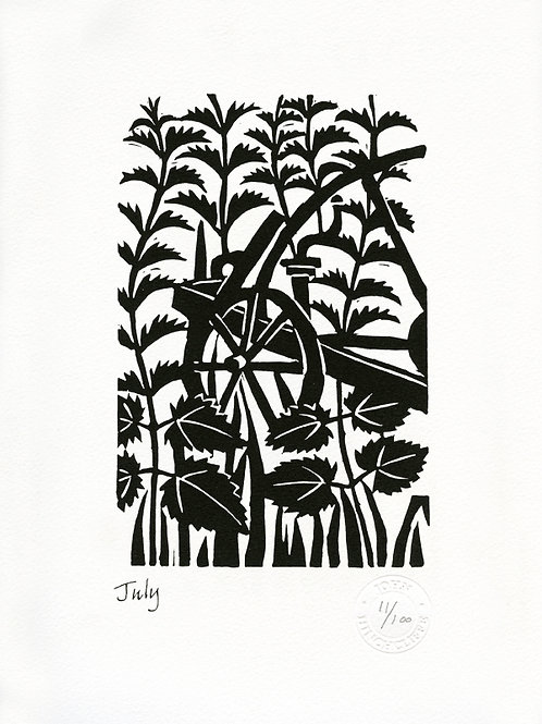 July Lithograph Limited Edition Print
