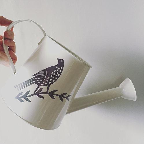 Songbird Enamel Watering Can