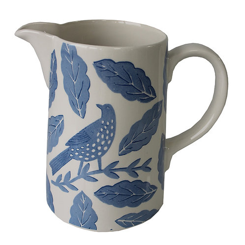 Songbird Blue Jug