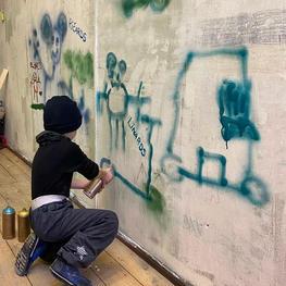 Graffiti masterclasses for children