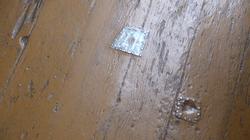Original Tin Patched Floor