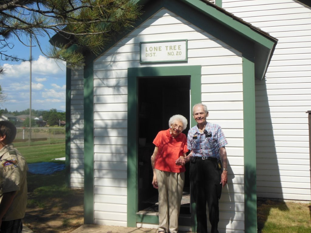 Earl and Twila Stevens July 4, 2013 Lone Tree School