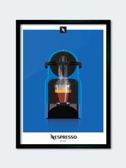 """Espresso blue"" Nespresso coffee machine"