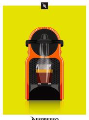 """""""Espresso orange"""" Nespresso coffee machine"""