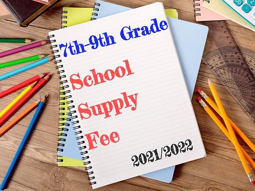 7th - 9th SRCA Student School Supplies 2021/2022