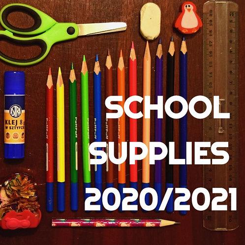 SRCA Student School Supplies 2020-2021