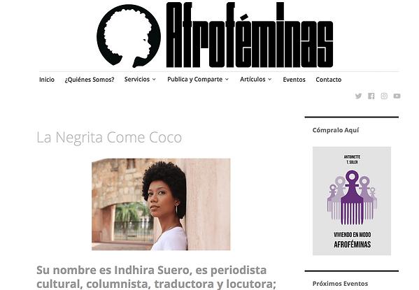 Negrita Come Coco en Afrofemias