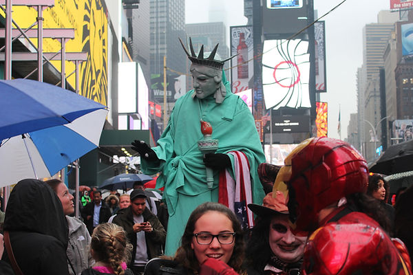 The Statue of Liberty on Times Square