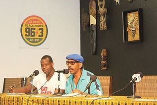 AJ Ali during his radio show