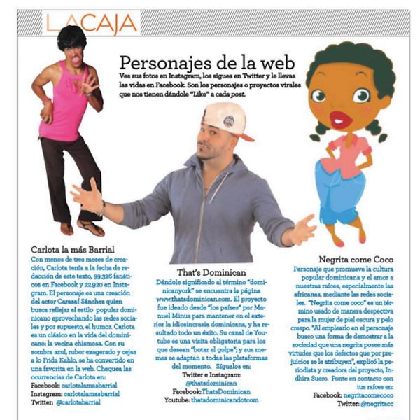 Negrita Come Coco en la revista Pandora