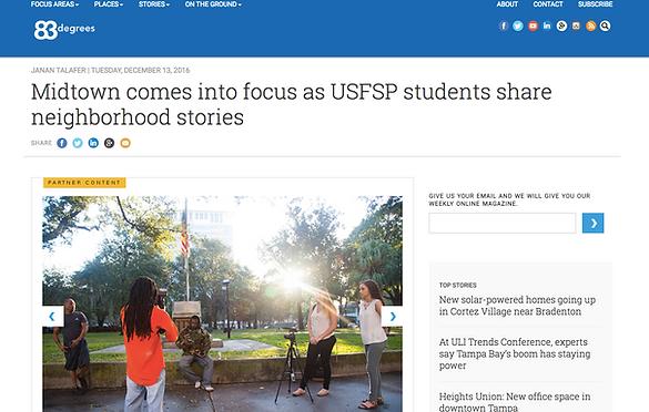 USFSP students on 83 degrees web