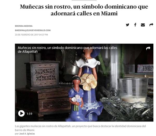 Reportaje sobre Munecas sin rostro dominicanas