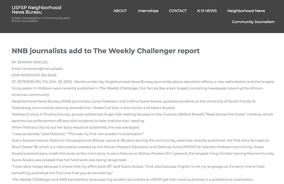 NNB journalits on the Weekly Challenger