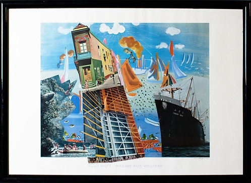 Ken Martin - Homage To Roaul Dufy (Marine Aux Voiliers)