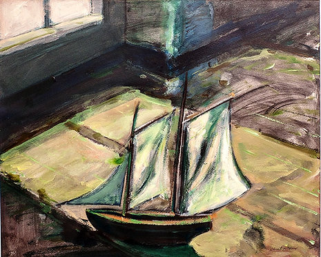 Clement McAleer - Toulouse-Lautrec's Boat In Albi Museum