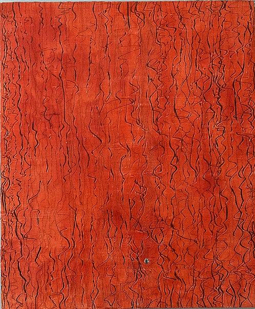 Leslie Tett - Scratched (Orange/White) (1 of 2)