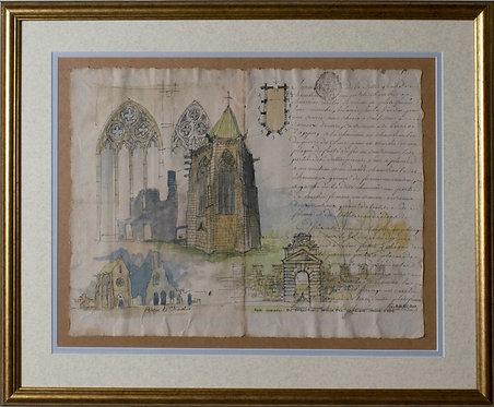 "Ken Martin - ""Chaalis Abbey"" (Cistercian Abbey, north of Paris)"