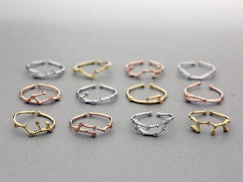 Constellation Zodiac Rings