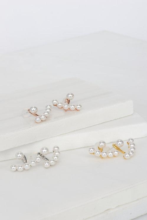Rosalie Jacket Pearl Earrings