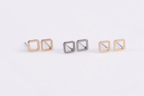 Tiny Square Stud Earrings Wholesale