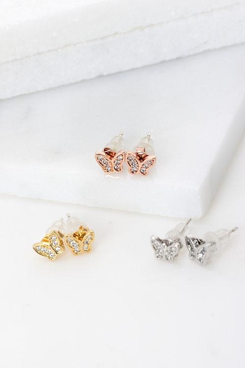 Crystal Butterfly Earings